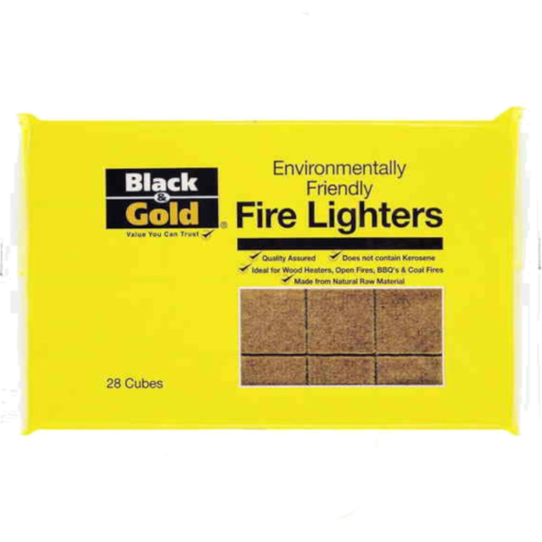 Black & Gold Environmentally Friendly Firelighters, 28 Each