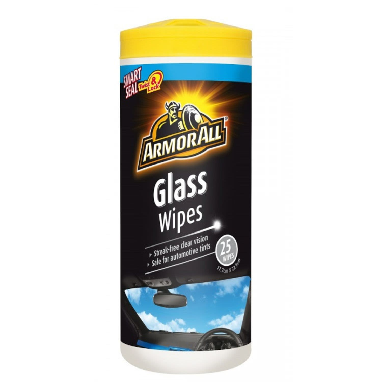 Armor All Glass Wipes, 25 Each