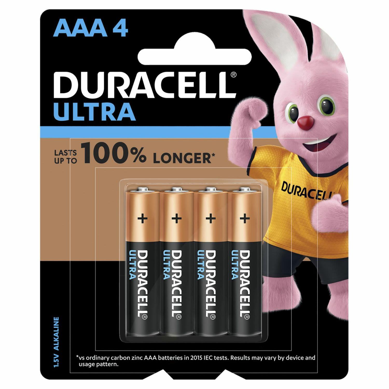 Duracell Battery Ultra AAA, 4 Each