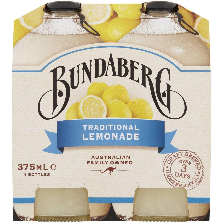 Bundaberg Traditional Lemonade, 4 Each