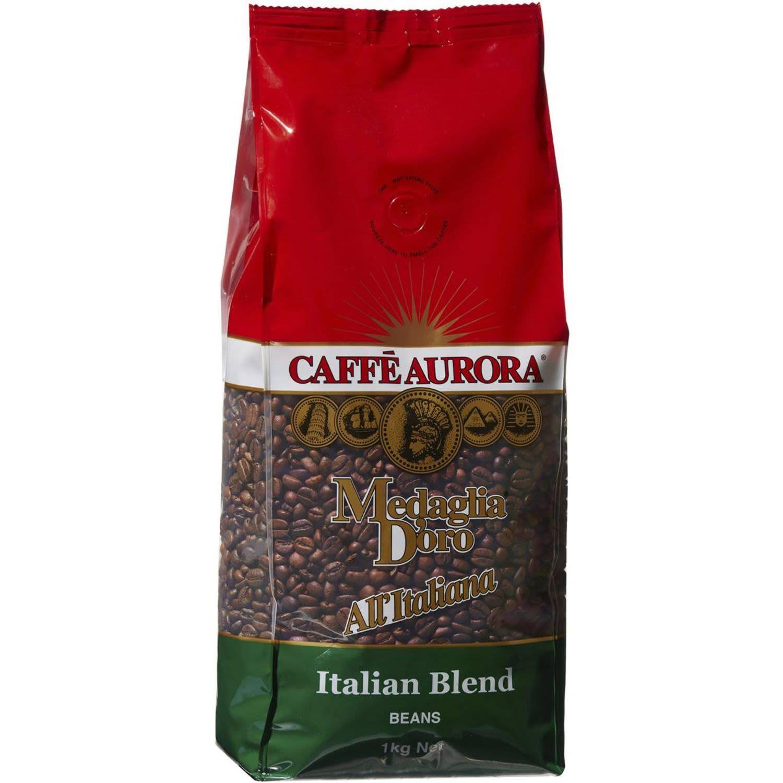 Caffe Aurora Coffee Beans Italian Blend, 1 Kilogram