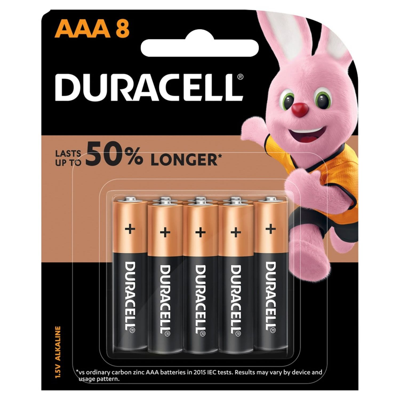 Duracell AAA, 8 Each