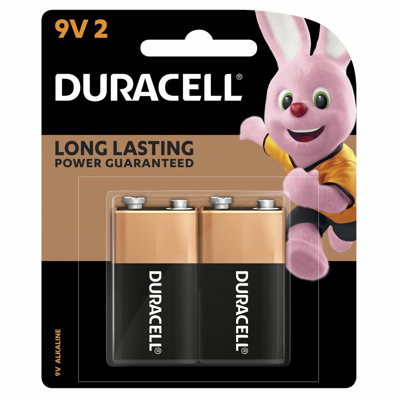 Duracell Coppertop Batteries 9V 2 Pack, 2 Each