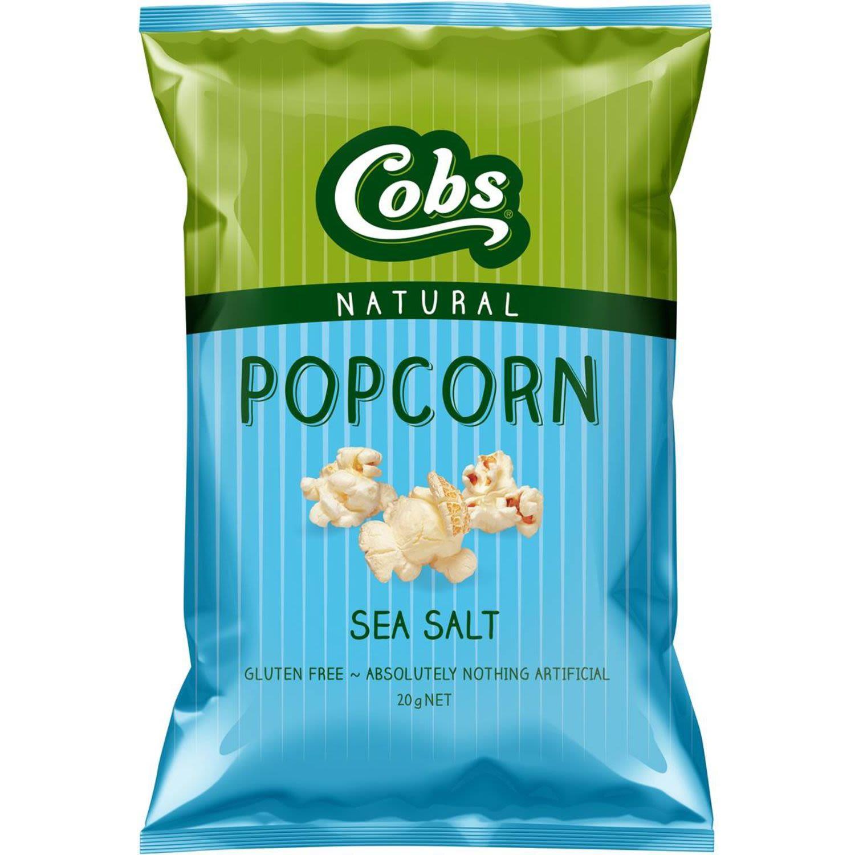 Cobs Popcorn Sea Salt Gluten Free, 20 Gram