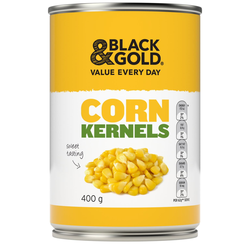 Black & Gold Corn Kernels, 400 Gram