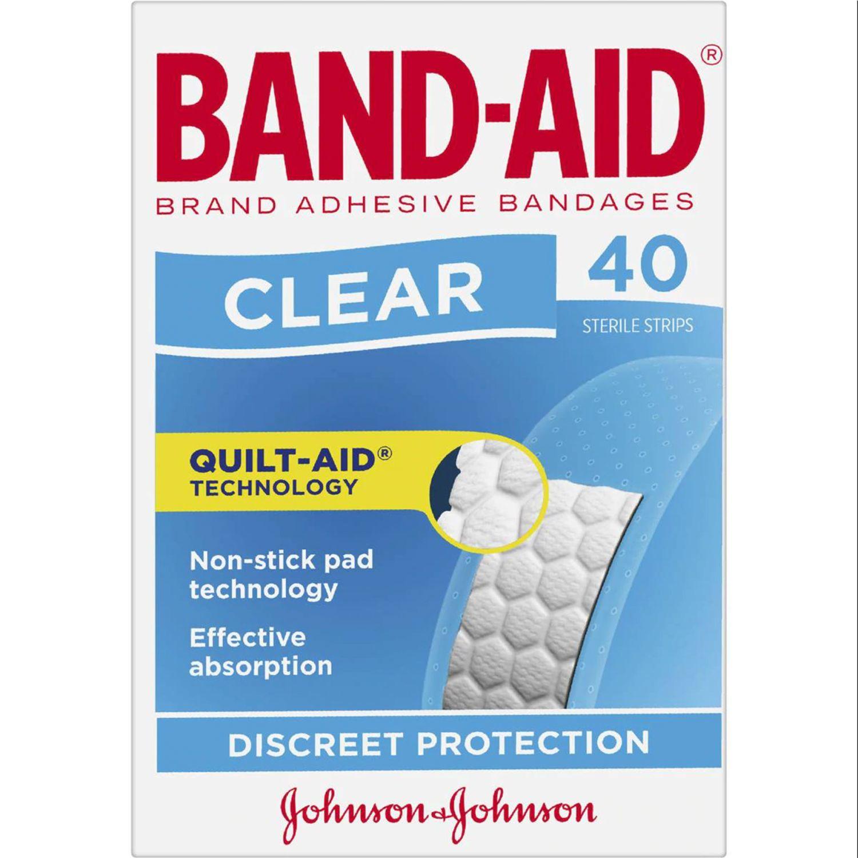 Band-Aid Clear Strips, 40 Each