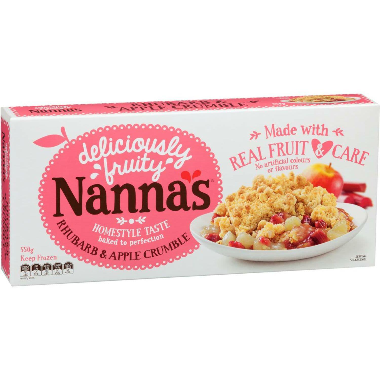 Nanna Rhubarb Apple Crumble, 550 Gram