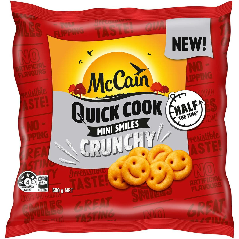 McCain Fries Quick Cook Mini Smiles, 500 Gram
