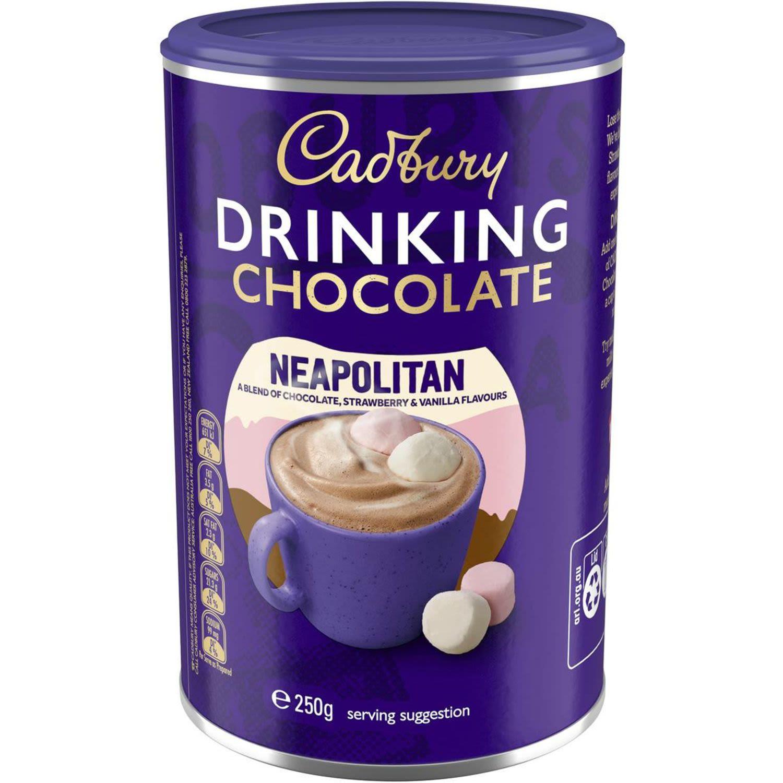 Cadbury Drink Chocolate Neapolitan, 250 Gram