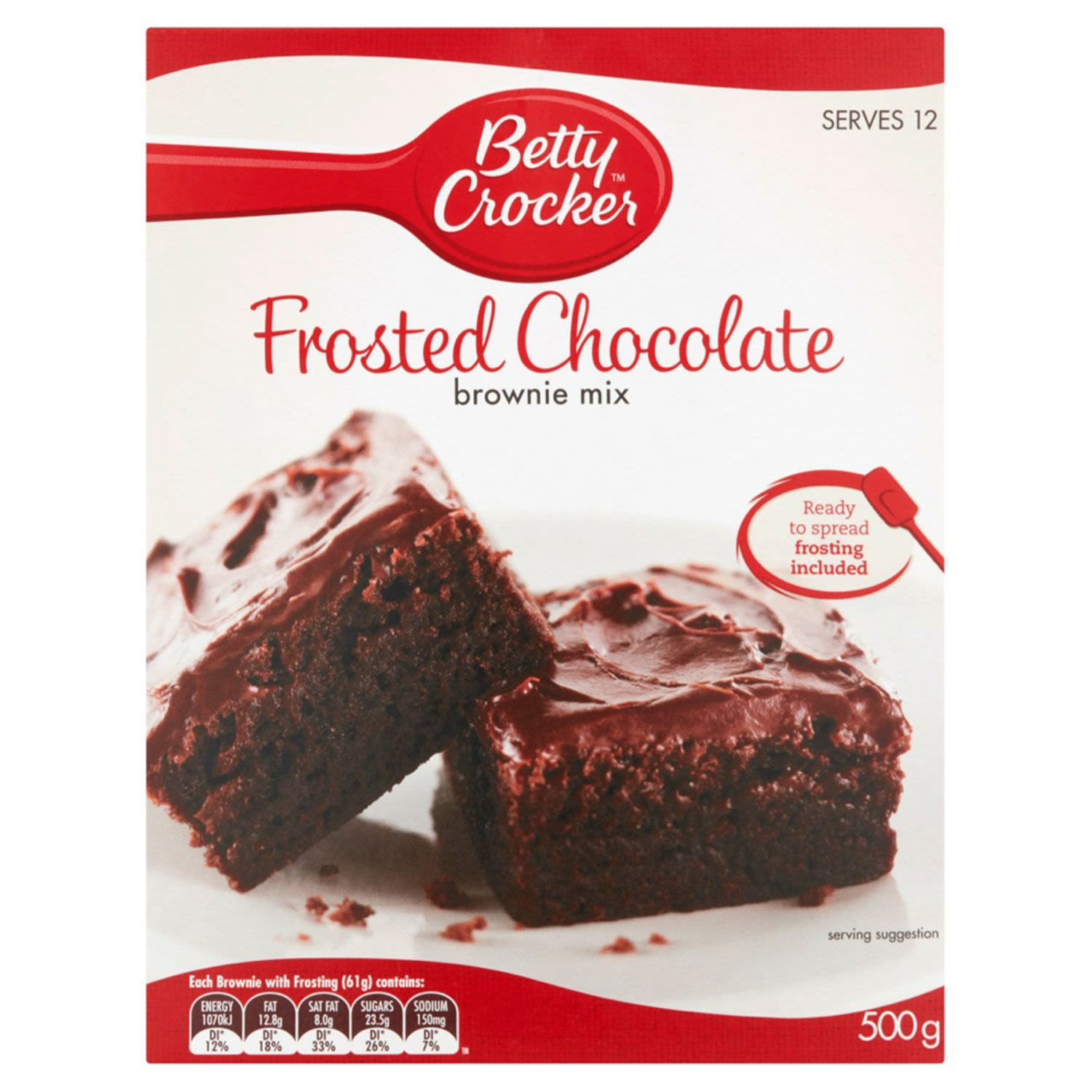 Betty Crocker Frosted Chocolate Brownie Mix, 500 Gram