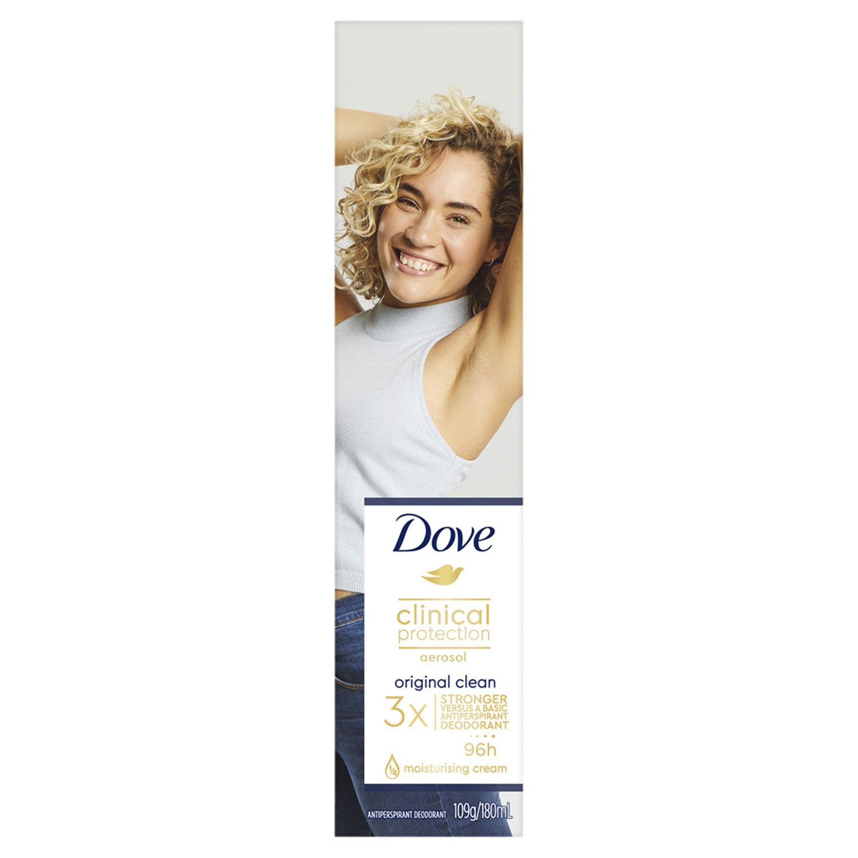 Dove Clinical Antiperspirant Deodorant Original Clean, 180 Millilitre