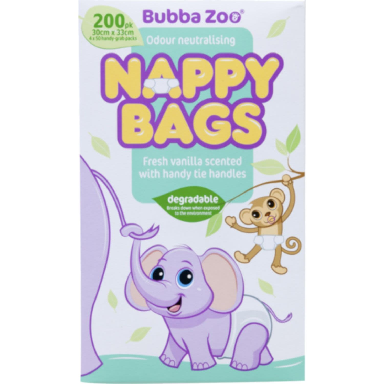 Bubba Zoo Nappy Bags, 200 Each