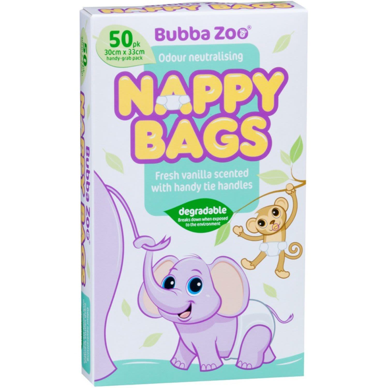Bubbazoo Nappy Bags, 50 Each