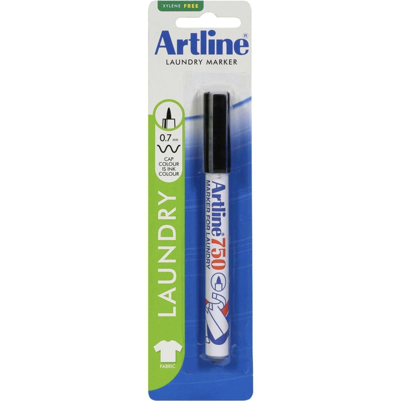 Artline Laundry Marker Black, 1 Each