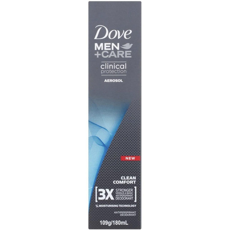 Dove Men + Care Clinical Protection Aerosol Clean Comfort, 180 Millilitre
