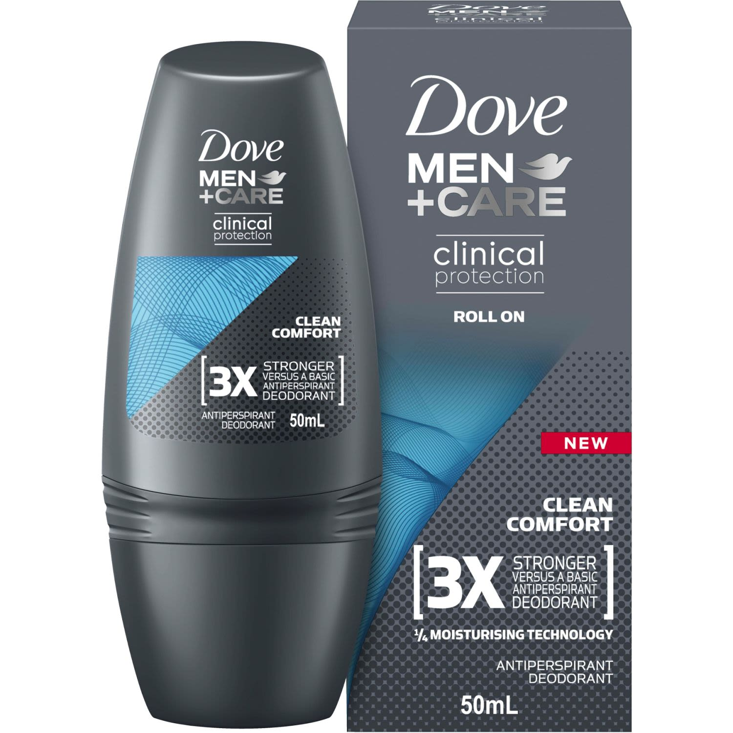 Dove Men Clinical Roll On Clean Comfort, 50 Millilitre