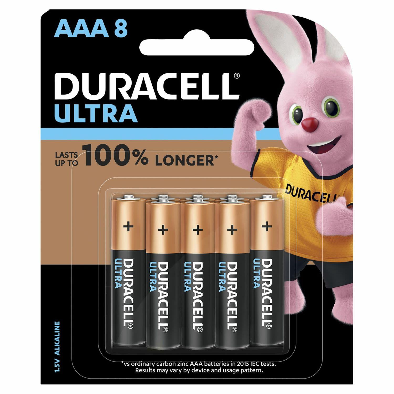 Duracell Battery Ultra AAA, 8 Each