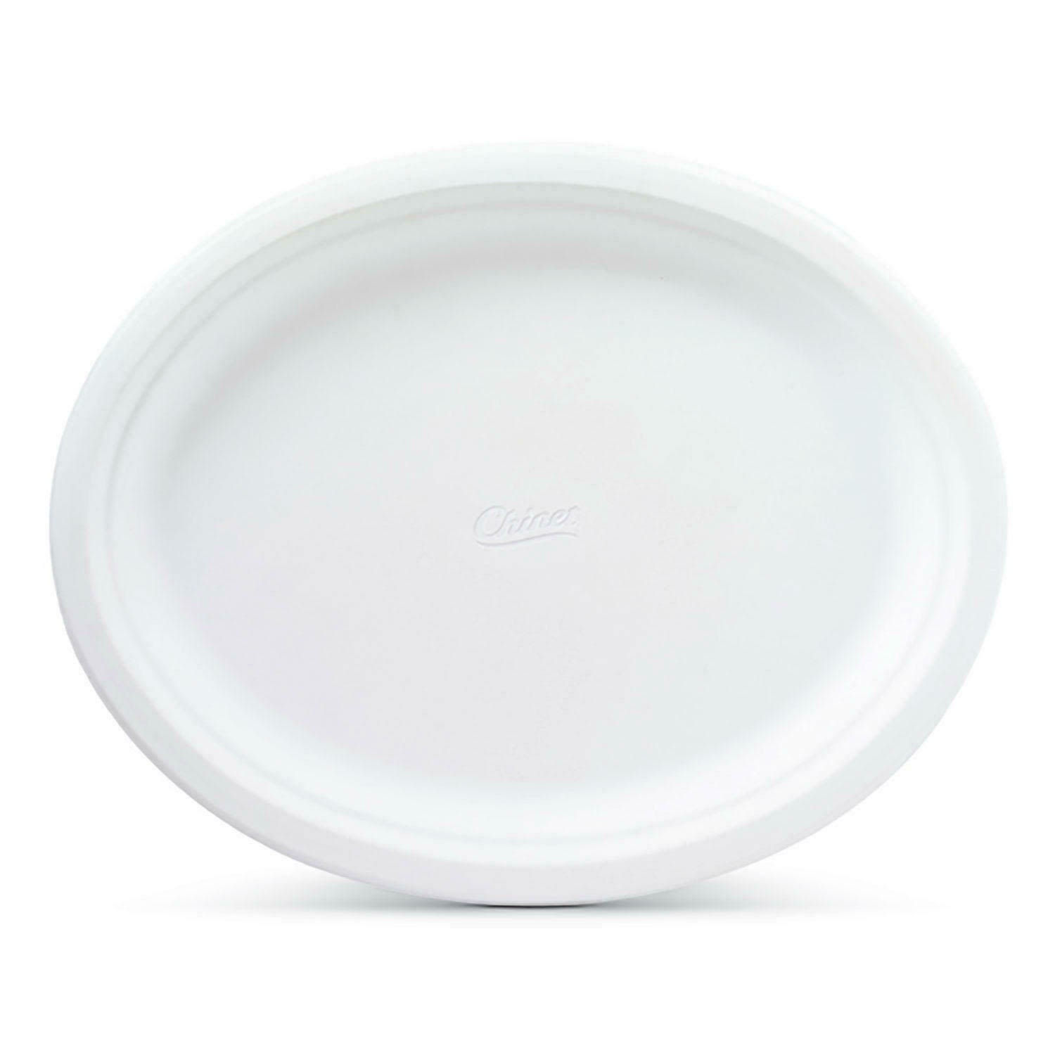 Chinet White Oval Plates, 10 Each