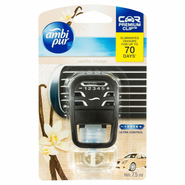 Ambi Pur Car Air Freshener Premium Clip Vanilla Voyage, 1 Each