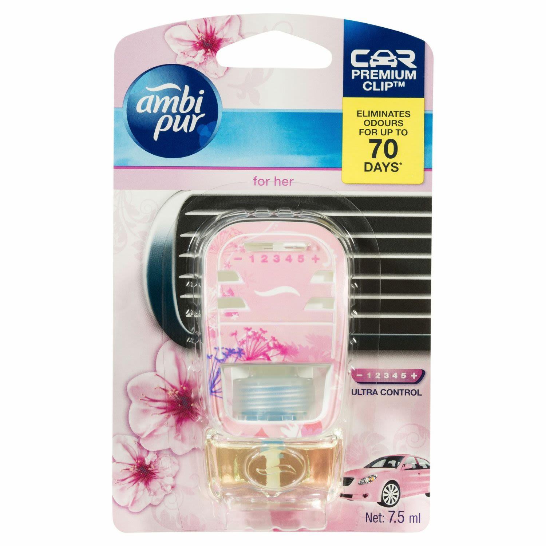 Ambi Pur Car Air Freshener Premium Clip For Her, 1 Each