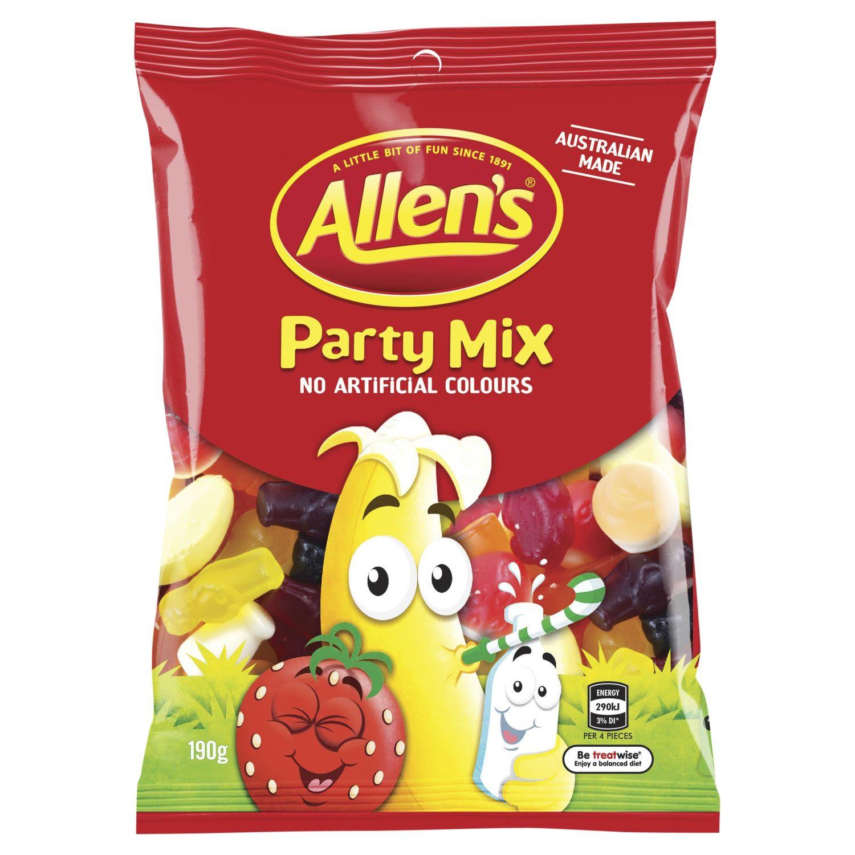 Allen's Party Mix Lollies Bag Variety, 190 Gram