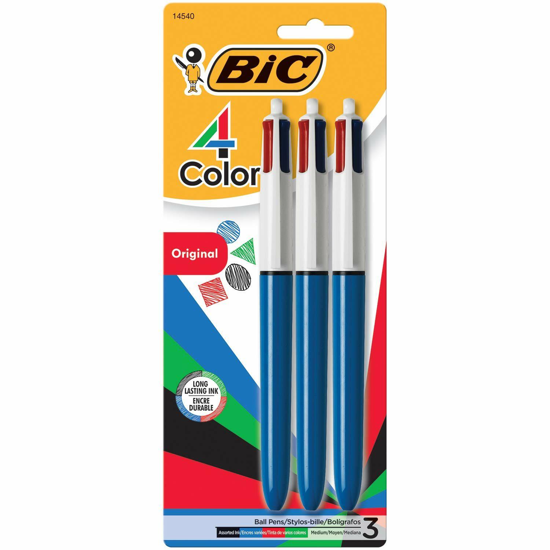 BIC 4 Colour Pen, 4 Each