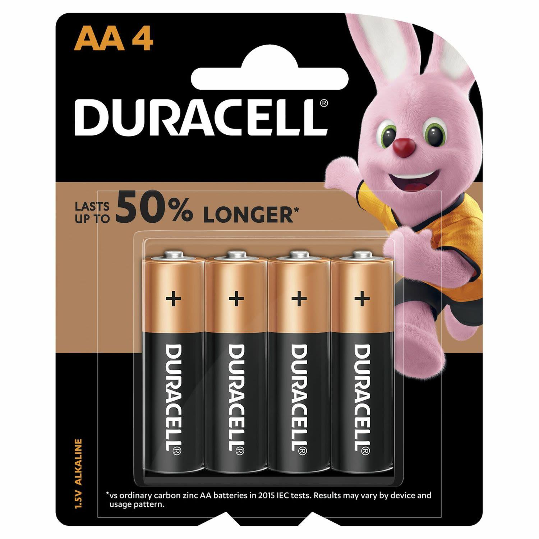 Duracell Coppertop Batteries AA, 4 Each