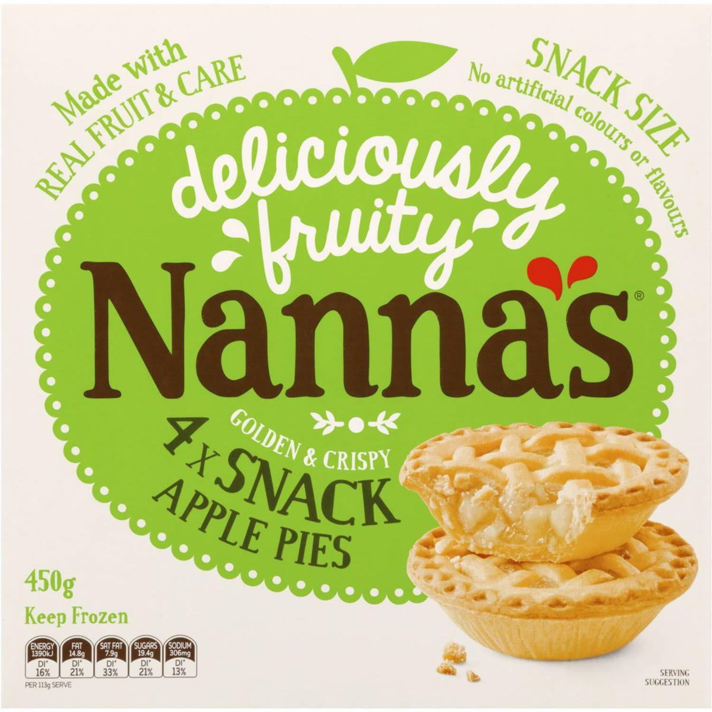 Nanna's Multipack Pies & Desserts Apple Pie, 4 Each
