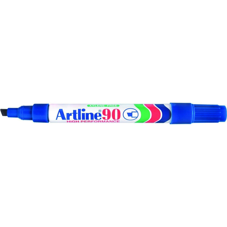 Artline Marker 90 Chisel Tip Blue, 1 Each