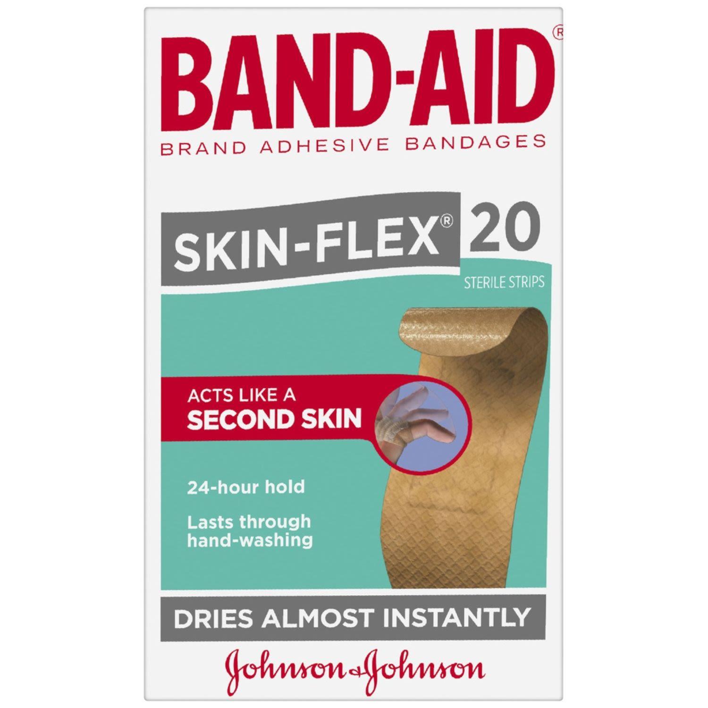 Band Aid Skin Flex Regular, 20 Each