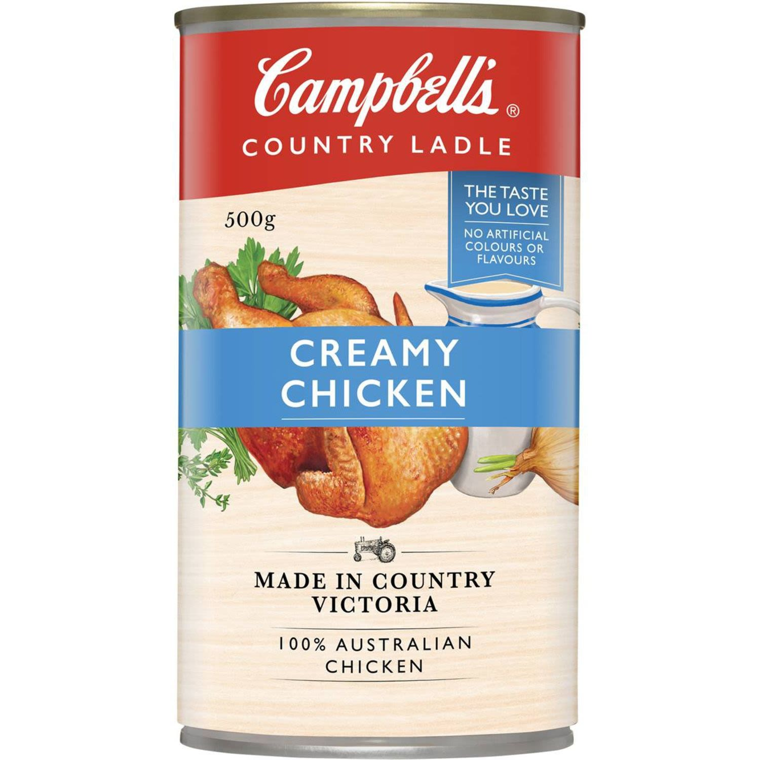 Campbell's Country Ladle Canned Soup Creamy Chicken, 500 Gram