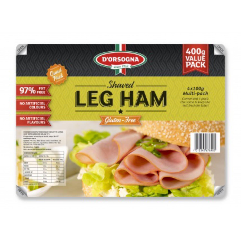 D'Orsogna Virgin Leg Ham Sliced, 400 Gram