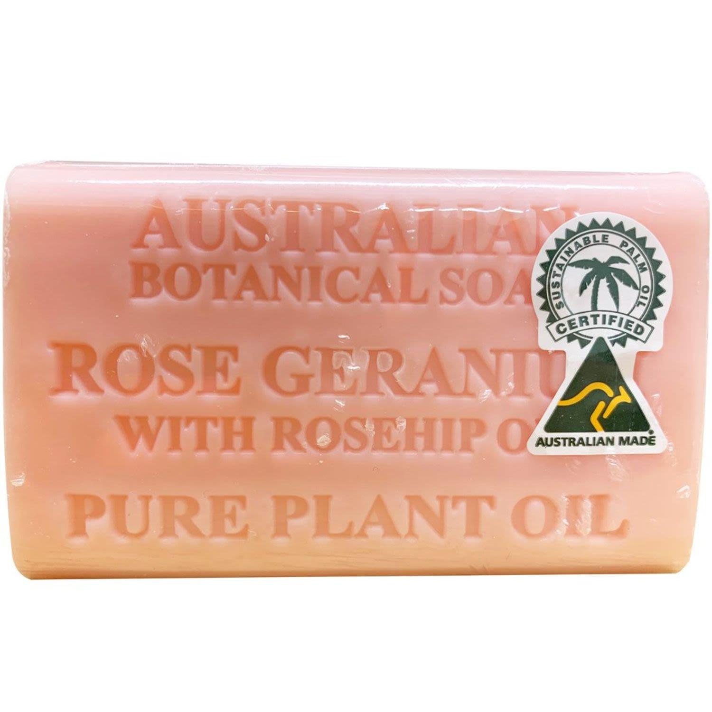 Australian Botanical Soap Rose Geranium, 200 Gram