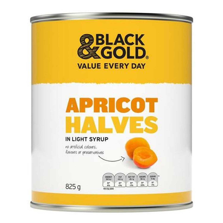 Black & Gold Apricot Halves, 825 Gram