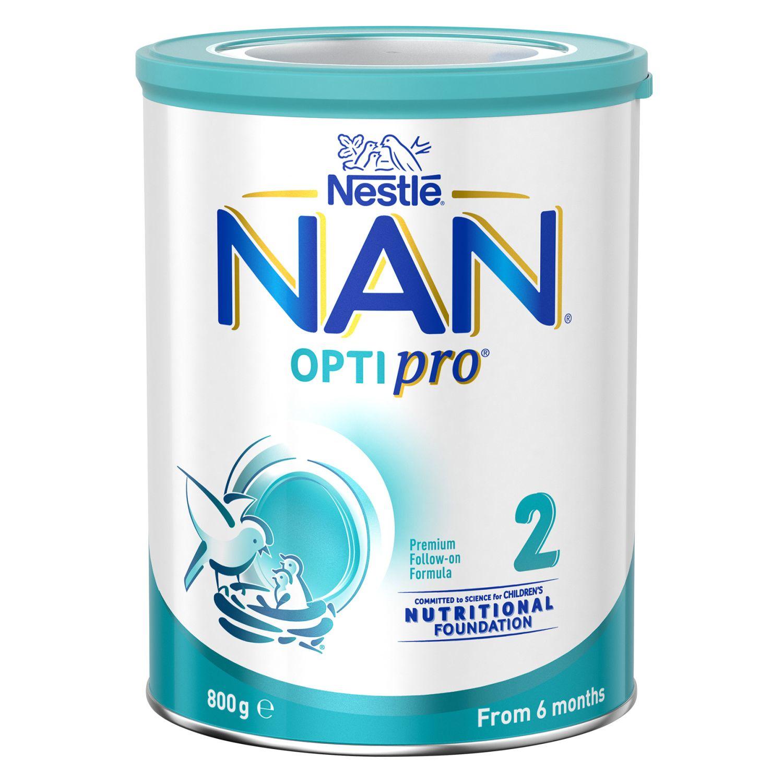 Nestlé Nan Optipro 2 Follow-on 6-12 Months Baby Formula Powder, 800 Gram