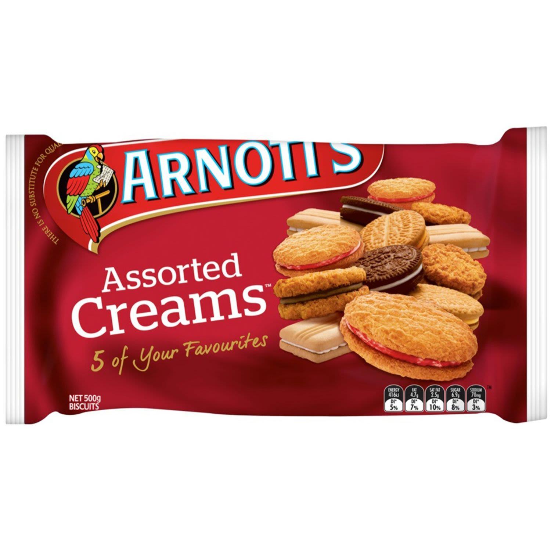 Arnott's Assorted Cream Biscuits, 500 Gram