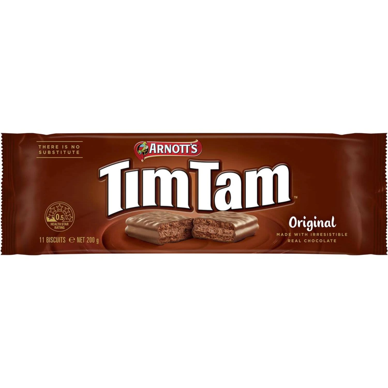 A mouth-watering combination of crunchy biscuit, creamy filling and real chocolate coating, it's easy to see why Tim Tams are Australia's most-loved chocolate biscuit. Share a packet of these deliciously sweet biscuits with your friends and family today.