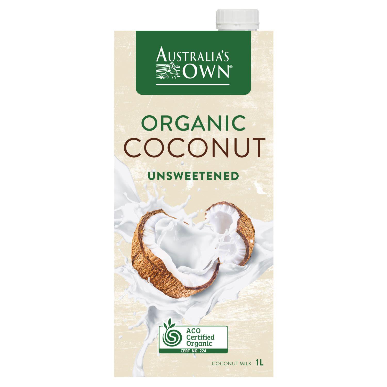 Australia's Own Organic Coconut Milk Unsweetened, 1 Litre