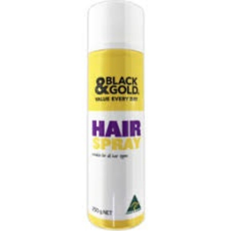 Black & Gold Hairspray, 250 Gram
