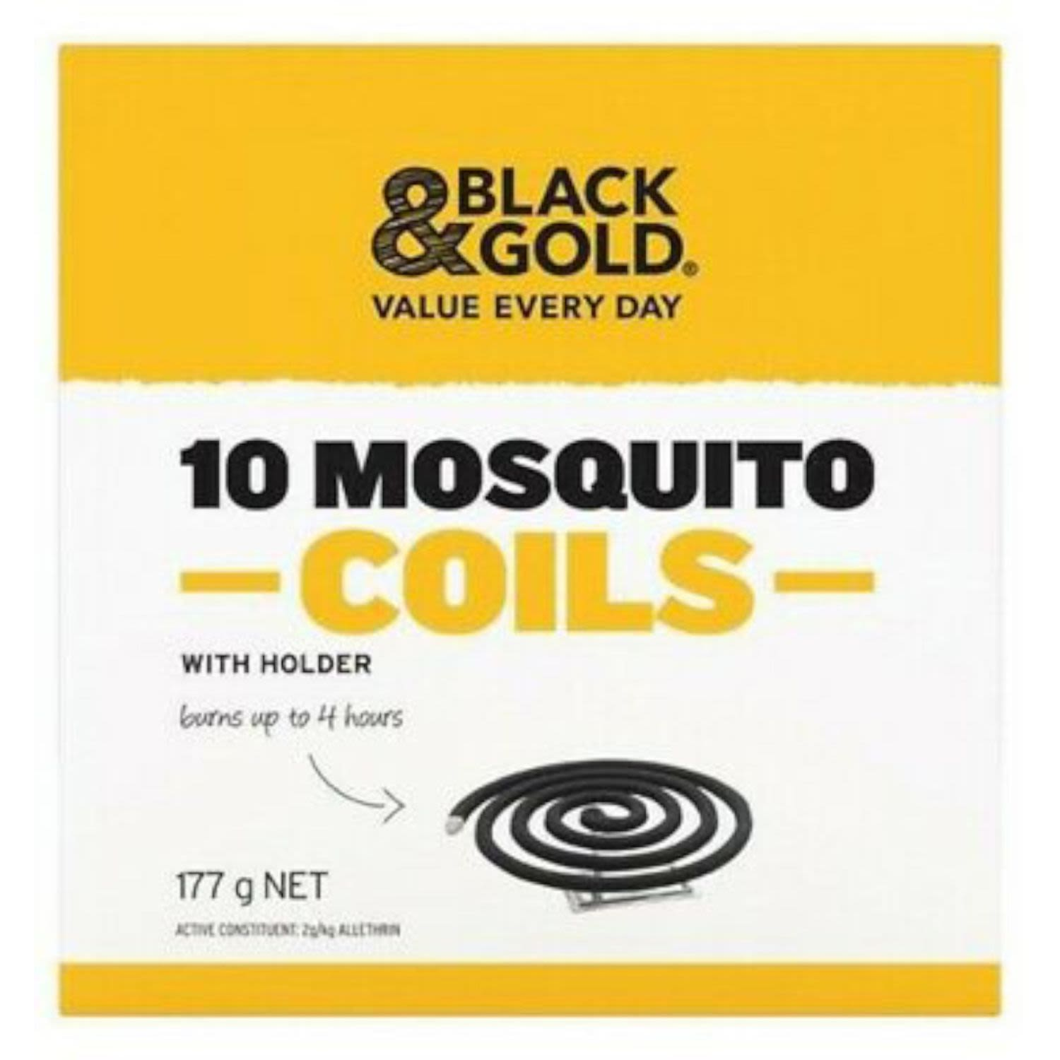 Black & Gold Mosquito Coil, 10 Each