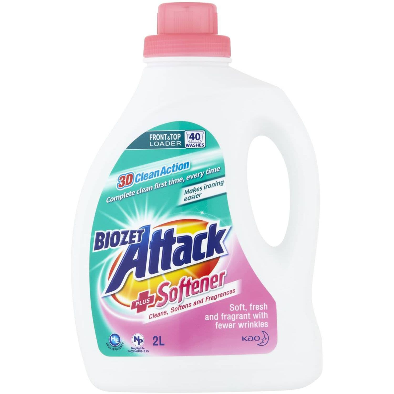 Biozet Attack Liquid With Softner, 2 Litre