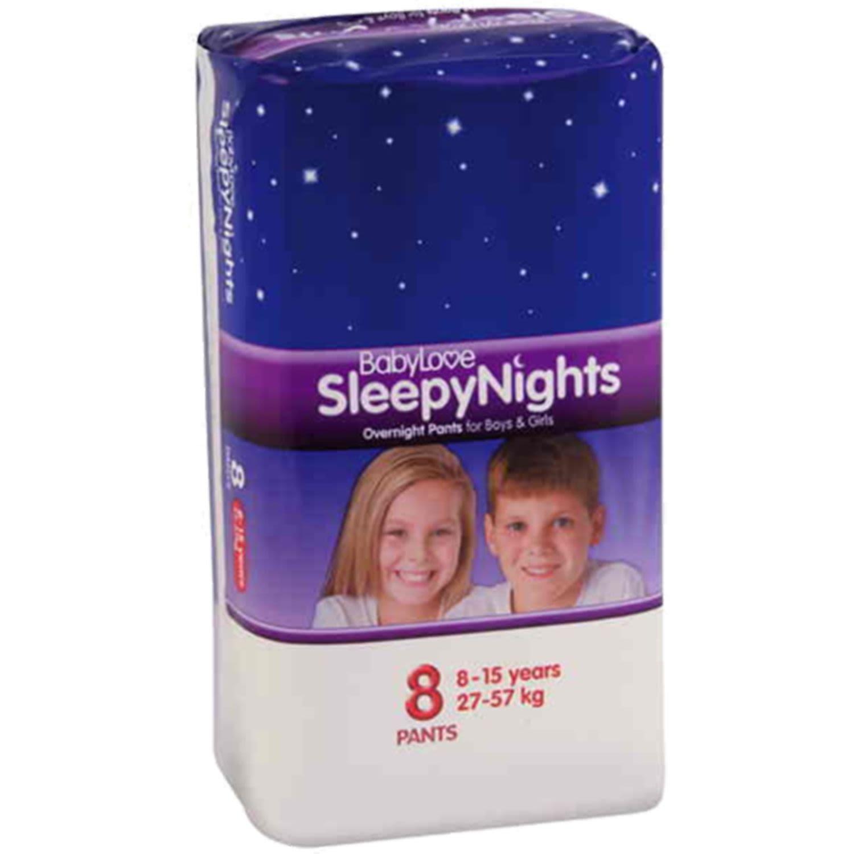 BabyLove Sleepy Nights 8 - 15 Years, 8 Each