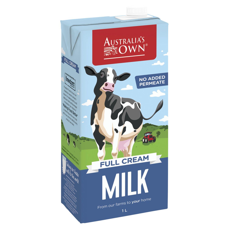 Australia's Own Dairy Standard Full Cream, 1 Litre