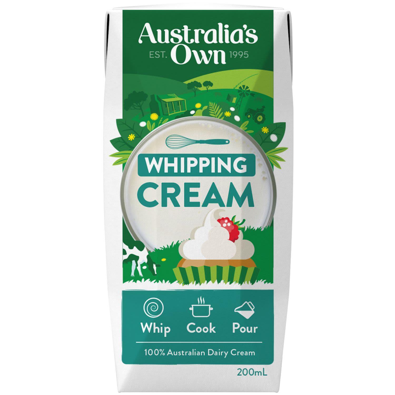 Australia's Own Whipping Cream, 200 Millilitre