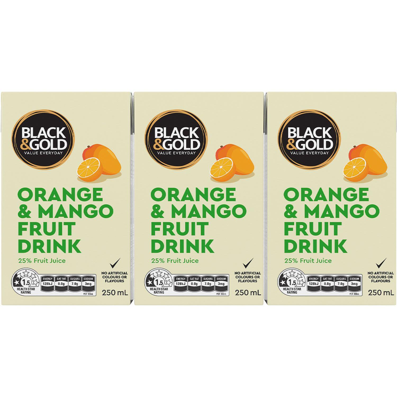 Black & Gold Concentrate Orange & Mango Drink, 6 Each