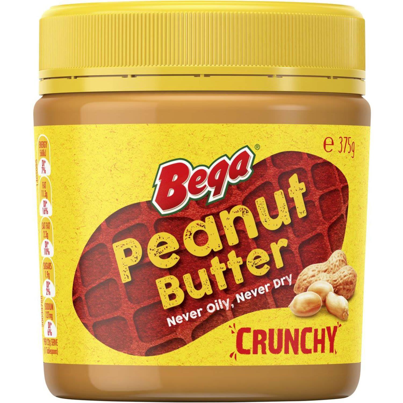 Bega Crunchy Peanut Butter, 375 Gram