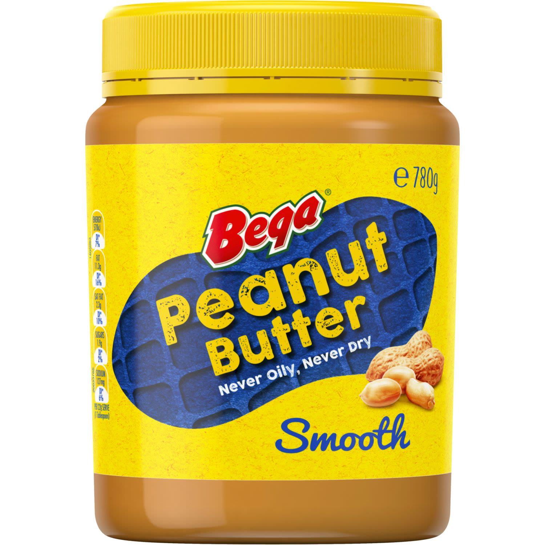 Bega Peanut Butter Smooth, 780 Gram