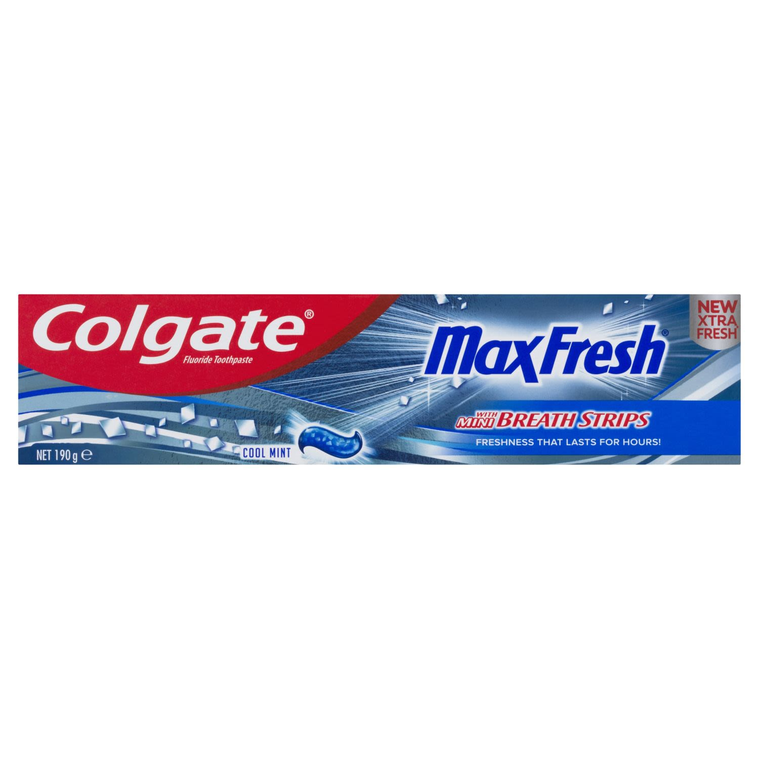 Colgate Max Fresh Breath Toothpaste with Mini Breath Strips Cool Mint, 190 Gram