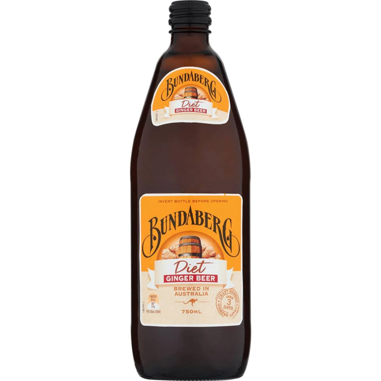 Bundaberg Diet Ginger Beer, 750 Millilitre