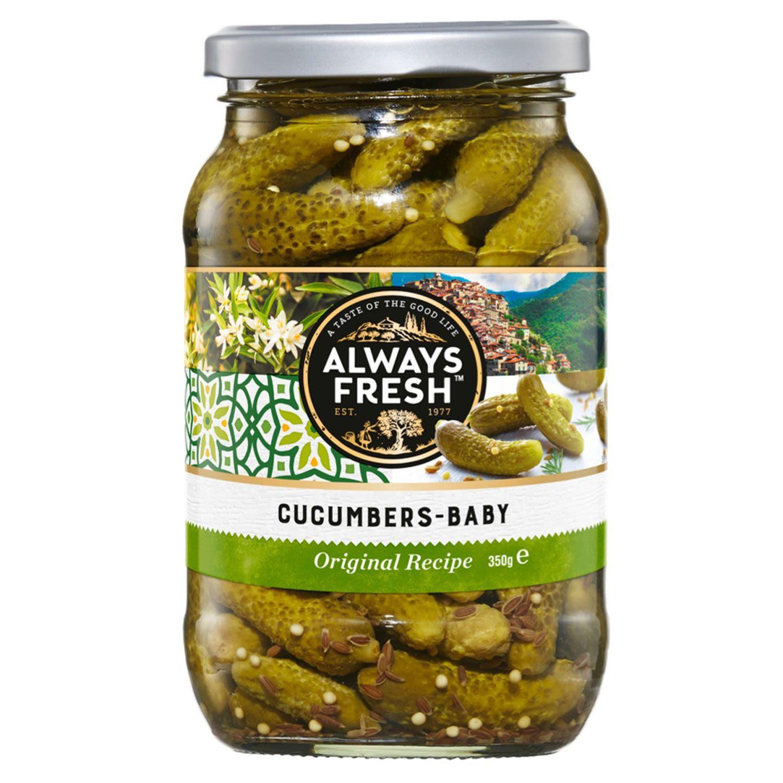Always Fresh Cucumbers Baby, 350 Gram
